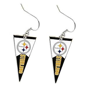 NFL Pittsburgh Steelers Pennant Dangle Earring Charm Gift Set from SteelerMania