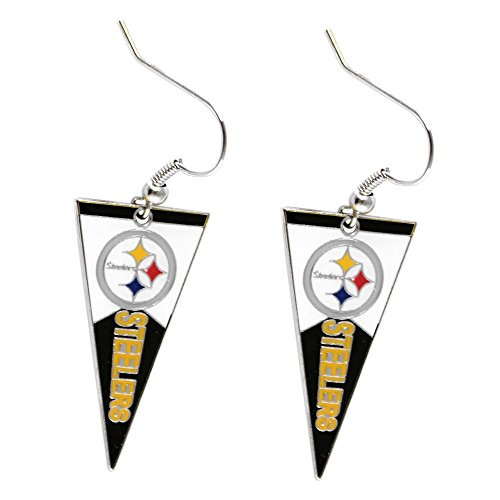 NFL Pittsburgh Steelers Pennant Dangle Earring Charm Gift Set from SteelerMania