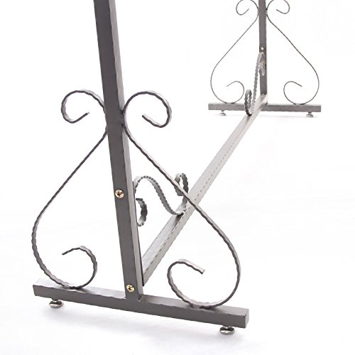 Free Standing Decorative Antique Grey Iron Garment Coat Rack (Y0021) 4