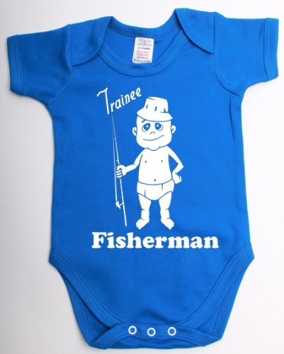 Trainee Fisherman Funny Fishing Babygrow Suit