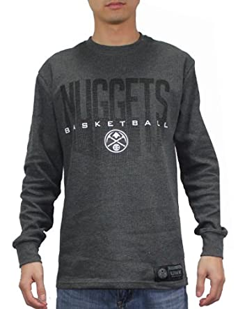 NBA Denver Nuggets Mens Athletic Long Sleeve Pullover T Shirt by NBA
