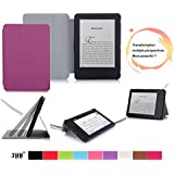 "Kindle, 6"" Glare-Free Touchscreen Display 2014 Case Cove, FYY® Ultra Slim Magnetic Smart Cover Folio Case for Kindle, 6"" Glare-Free Touchscreen Display 2014 Purple (With Auto Wake/Sleep Feature)"