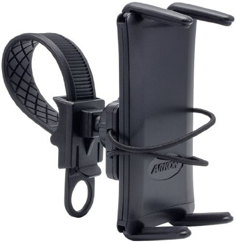 ARKON Zip Tie Style Removable Strap Mount for iPhone 5/5c/5S, Samsung S3/S4/Note 2/Note 3 and Other Large Smartphones - Retail Packaging - Black