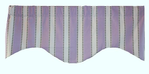 RLF Home Dorothy Stripe M Shaped Valance, Lavender