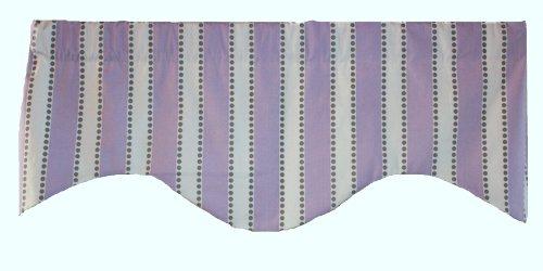 RLF Home Dorothy Stripe M Shaped Valance, Lavender