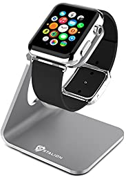 Apple Watch Stand: Stalion® Desktop Charging Dock Station for Apple Watch Sport Edition (Space Gray) Aluminum Body Universal Cradle Holder for Apple iWatch 38mm / 42mm