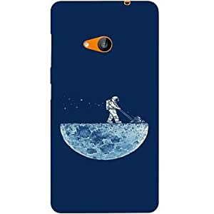 Casotec Moon Walk Design Hard Back Case Cover for Microsoft Lumia 535