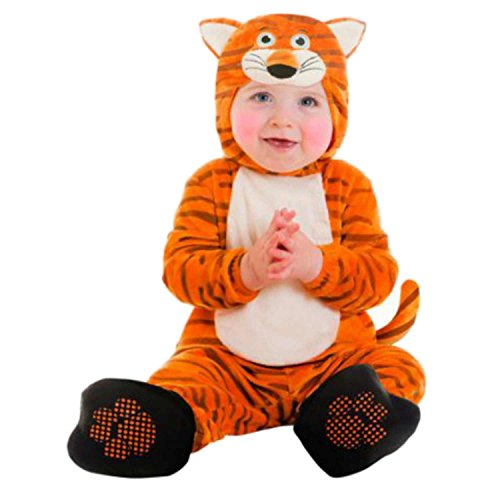Goodmark Infant Boys & Girls Tiger Costume Plush Orange Baby Cat Suit
