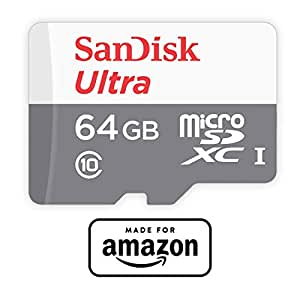 SanDisk 64GB microSDXCカード (スピードクラス Class10, UHS-I, 最大転送速度: 48MB/s),   New Fire タブレット,  Amazon Fire TV動作確認済み