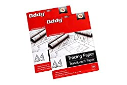 Oddy 95 GSM Tracing Butter Paper 100 Sheets (Set of 2)