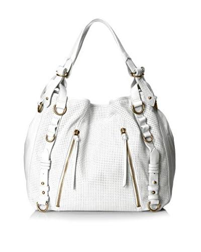 Joelle Hawkens Women's Erin Perforated Hobo Bag, Ice