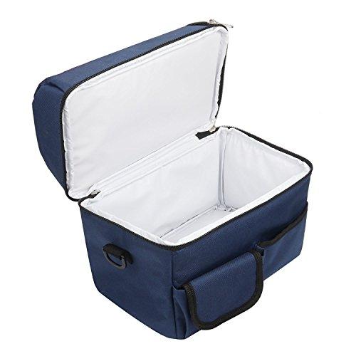Borsa Termica Frigo in Poliestere per Pranzo al Sacco con Maniglie e Tracolla – TravelKit