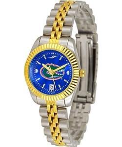 University of Florida Gators Ladies Gold Dress Watch by SunTime