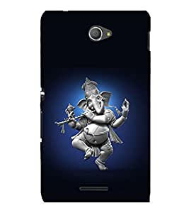 printtech Lord God Ganesha Dancing Back Case Cover for Sony Xperia E4 Dual::Sony Xperia E4