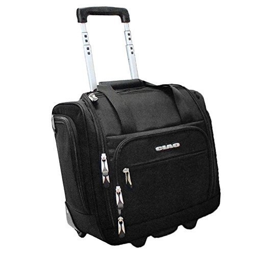 Ciao Rolling Carry On Under Seat Rolling Bag Black