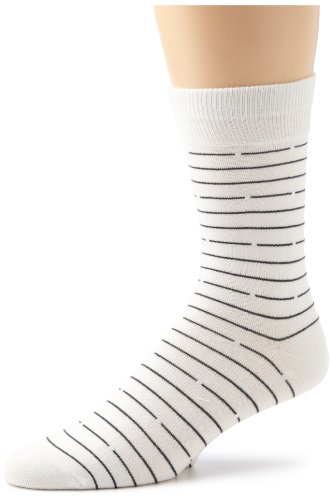 Richer Poorer Men's Bandit Socks, White, One Size