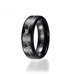 6MM Ring Titan (Titanium), Trauringe Ehering Verlobungsring