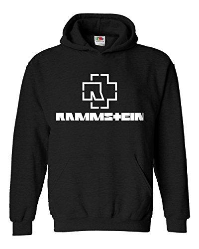 """Felpa Unisex """"Rammstein"""" - Felpa con cappuccio rock metal LaMAGLIERIA, S, Nero"""