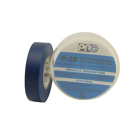 Nitto (Permacel) P-28 All-Weather Colored Electrical Tape: 3/4 In. X 66 Ft. (Blue)