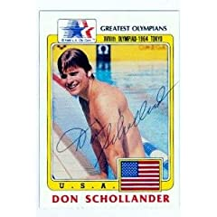 Buy Don Schollander autographed card (Olympic Pole Vault Gold Medal) 1983 LA Olympic #96 by Autograph Warehouse