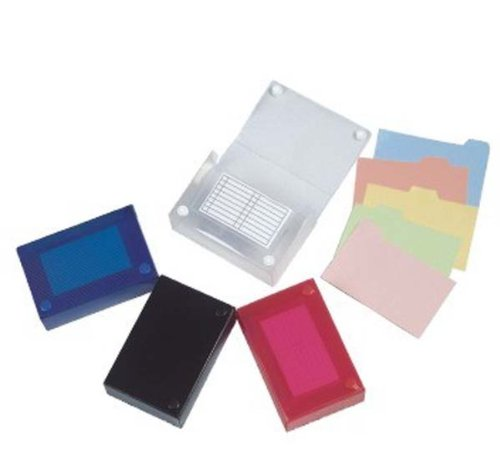 Filexec 4 x 6 Inch Index Case, Snap Button Closure, 5 Index Dividers, Assorted (Pack of 4) (50095-2022)