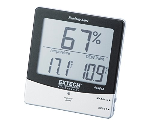 Extech 445814 Stationary Hygro Thermometer Psychrometer With Audible Humidity Alert