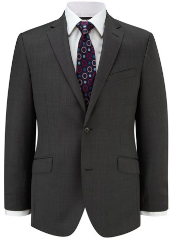 Austin Reed Contemporary Fit Charcoal Pindot Suit SHORT MENS 40