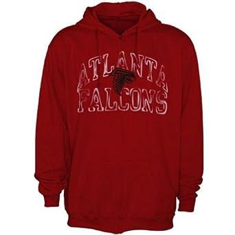 NFL Mens Atlanta Falcons Touchback Full Zip Hoodie - Red by NFL Apparel
