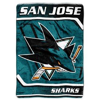 San Jose Sharks Oversize Plush Blanket front-490459