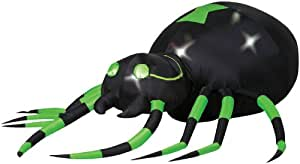 Green Spider with Turning Head Animated Airblown