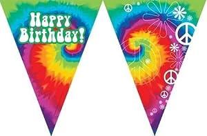 Flag Banner, Happy Birthday, Tie Dye Fun