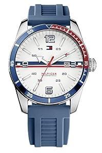 Tommy Hilfiger 1790918 - Reloj analógico de cuarzo para hombre con correa de silicona, color azul