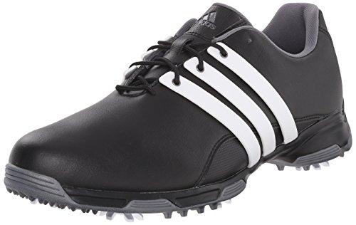 adidas Men's Pure Trx Golf Shoe, Black/Ftwr White/Dark Silver Metallics, 11 M US
