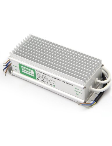 Yorbay LED Trafo wasserdicht IP67 Ein AC220V Aus DC12V 8,33A 100W Transformer Transformator Netzteil Stromkabel Netzadapter für LED Strip Lampe usw.
