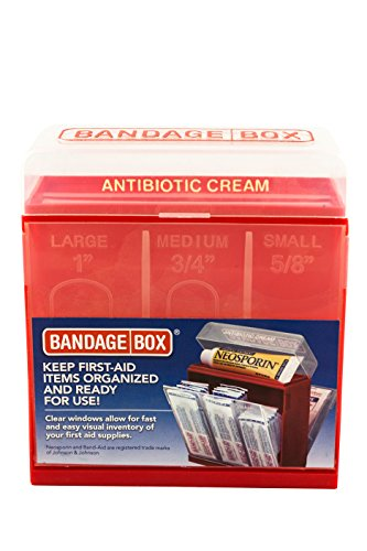 Bandage Box Container, Red with White Center (First Aide Container compare prices)