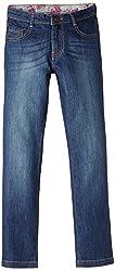 Elle Girls' Jeans (EKJN0012_Dark Blue_S)