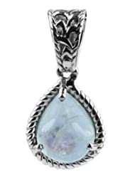 Carillon India Solitaire Moonstone 2.38 Ct Pendant With 18 Inch Silver Chain Pendent