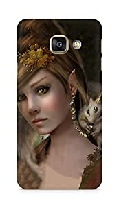 Amez designer printed 3d premium high quality back case cover for Samsung Galaxy A3 (2016 EDITION) (Art Girl)