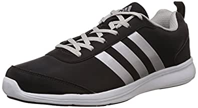 adidas Men's Alcor Syn 1.0 M Black and Silver Running Shoes - 10 UK