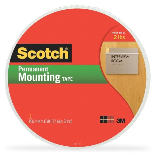 3M Double-Coated Foam Tape, Holds 2 Lb., 1/2-Inch X 36 Yards (Mmm401612)