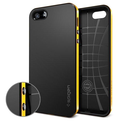 【国内正規品】SPIGEN SGP iPhone5/5S ケース ネオ・ハイブリッド [レベントン・イエロー]【SGP10364】