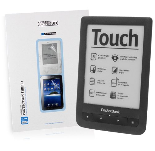 Cover-Up PocketBook Touch 622 eReader Crystal Clear Invisible Screen Protector at Electronic-Readers.com
