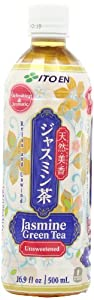 Ito En Tea Beverage, Unsweetened Jasmine Green, 16.9 Ounce (Pack of 12)