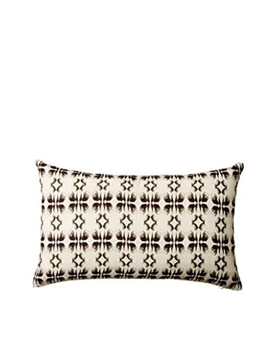 Nitin Goyal London Monochrome Tulip Silk Lumbar Pillow, Multi
