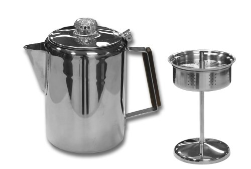 Stansport Stainless Steel Percolater 14-Cup Coffee Pot