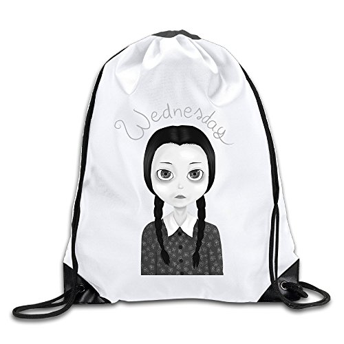 U.T.HOME Wednesday Addams Drawstring Backpack/Sackpack Gym Bag/Daypack (Wednesday Addams Shoes)