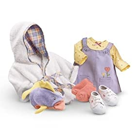 American Girl Bitty Baby Jumper & Bath Robe Outfit