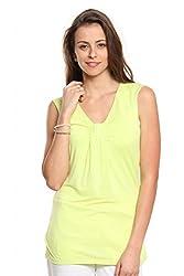 Women Lime Green T-Shirt