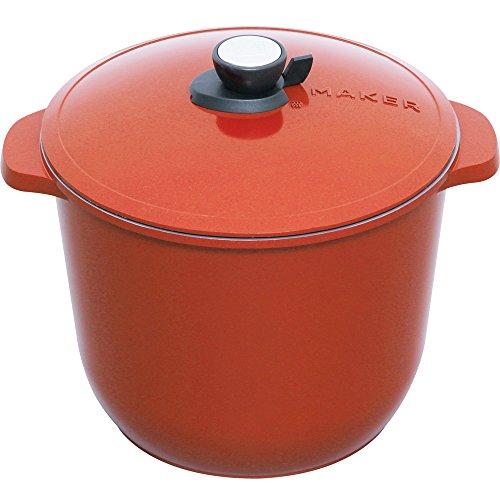 アイリスオーヤマ 鍋 無加水鍋 28cm 深型 レッド MKSN-P28D