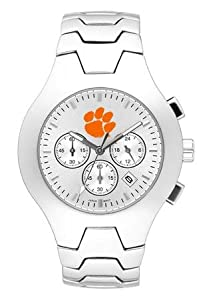 Clemson Tigers Hall Of Fame Sterling Silver Watch by Logo Art